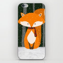 Fox Wintery Holiday Design iPhone Skin