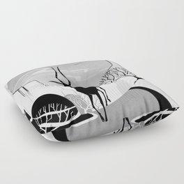 Valleys Floor Pillow
