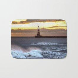 Roker pier and lighthouse sunrise Bath Mat