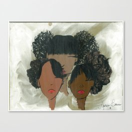 Afro Puff Girls Canvas Print
