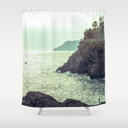 Sea in vintage style Shower Curtain