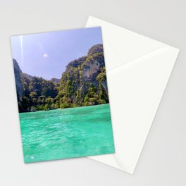 Emerald Water in Phi Phi island Stationery Cards