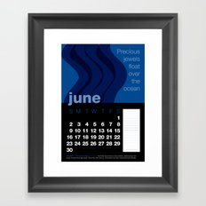 2013 Pigment to Pantone Calendar – JUNE Framed Art Print