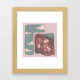 Lion and the Mouse Framed Art Print