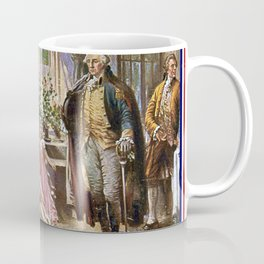 Edward percy moran: the birth of old glory Or Betsy Ross and Washington Coffee Mug