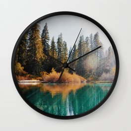 Autumn at Clear Lake Wall Clock