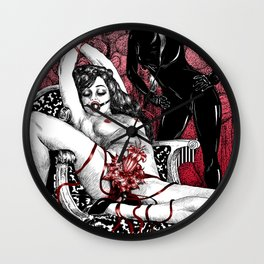 Abduction Of Melusine Wall Clock