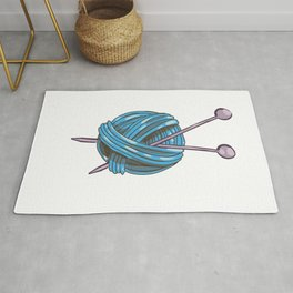 Knitting Yarn Rug