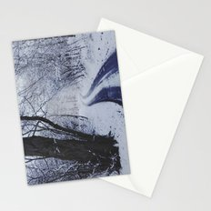 Snowy road. Stationery Cards