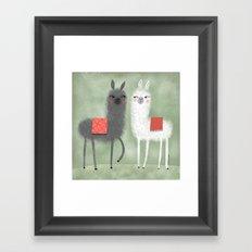 LAMMAS WITH RED BLANKETS Framed Art Print