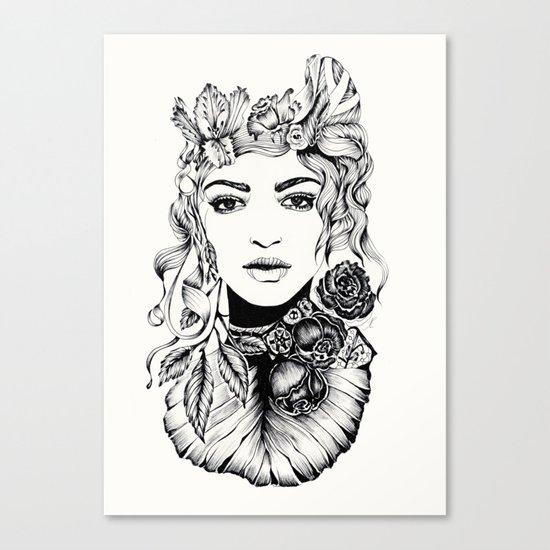 Nature Woman Canvas Print
