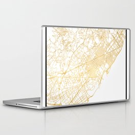 BARCELONA SPAIN CITY STREET MAP ART Laptop & iPad Skin