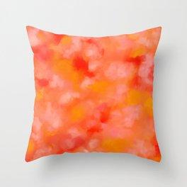 Cherries, Tangerines, and Cream Throw Pillow