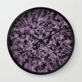 Black Fire Wall Clock