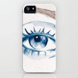 Blue eye iPhone Case