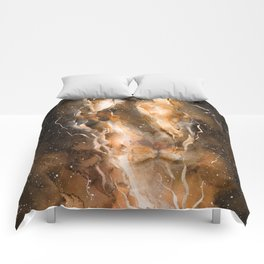 Fire in the Lion Comforters