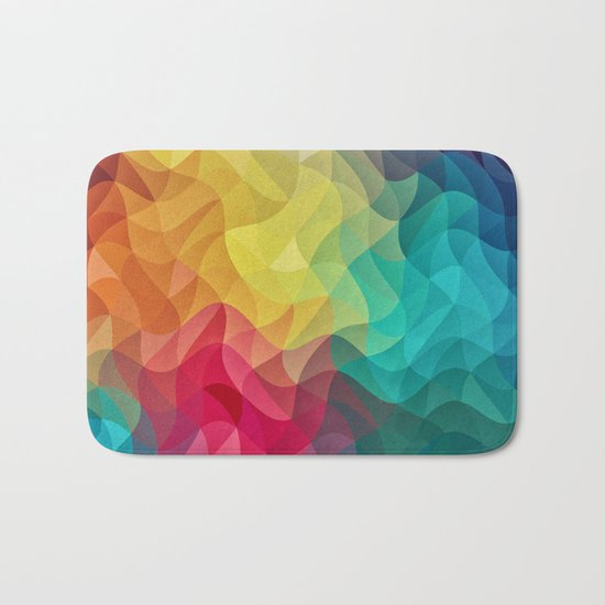 Abstract Color Wave Flash Bath Mat