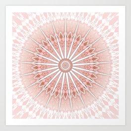 Blush Apricot Mandala Art Print