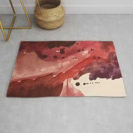 Starlight [4]: a pretty abstract watercolor piece in reds and purples by Alyssa Hamilton Art Rug