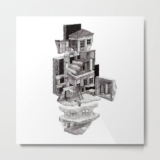 layers city Metal Print
