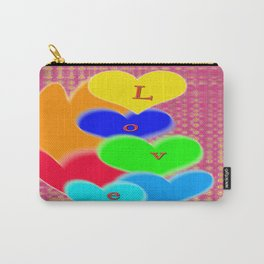coloured love hearts Carry-All Pouch
