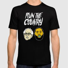 Run The Country X-LARGE Mens Fitted Tee Black