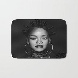 David's Portrait #1 Rihanna Bath Mat