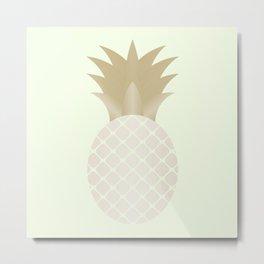 The Metallic Pineapple Metal Print