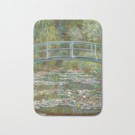 Monet, Water Lilies and Japanese Bridge, 1854 Bath Mat