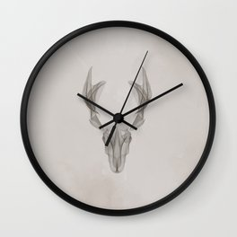 Abstract Deer Wall Clock
