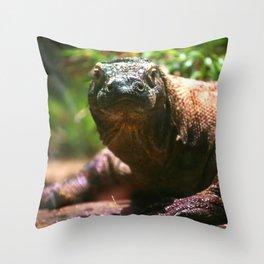 Curious Komodo Throw Pillow