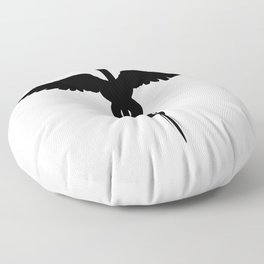 Caduceus Medical Symbol Isolated Floor Pillow