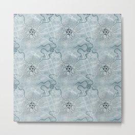 Celadon Sea Life Metal Print