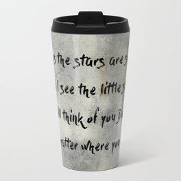 Antique Quote Little Star Love Words Travel Mug