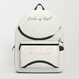 Meet the Parents, minimalist movie poster, Robert De Niro, Ben Stiller, american comedy, film Backpack