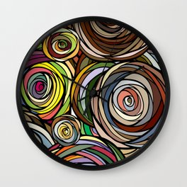 Rubberbands Wall Clock