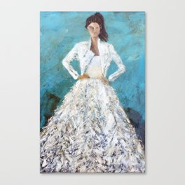 bomber bride Canvas Print