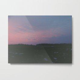 Sunrise fields Metal Print