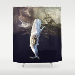 Jonah and the whale Shower Curtain