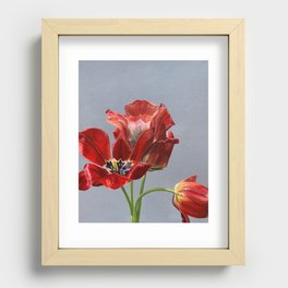 Red Tulips Recessed Framed Print