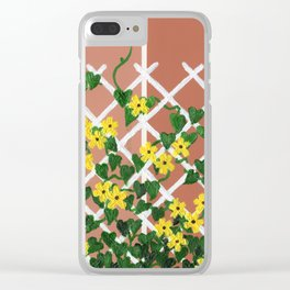 Black-Eyed Susans on Browns Clear iPhone Case