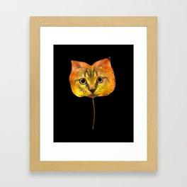 Autumn Cat-7 Framed Art Print