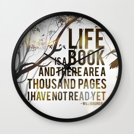 Life is a Book Wall Clock