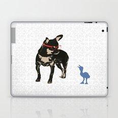 Black tan Chihuahua Dog with chick Laptop & iPad Skin