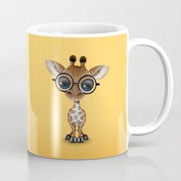 Cute Curious Baby Giraffe Wearing Glasses Coffee Mug