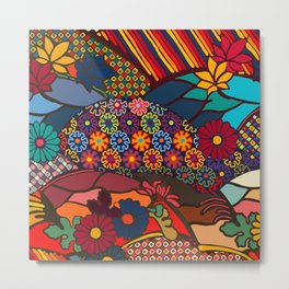 African Style No7, Wedding Day Metal Print
