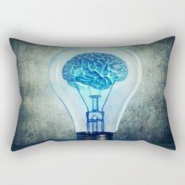 lightbulb brain shining Rectangular Pillow