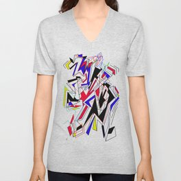 Lines of Mind Unisex V-Neck
