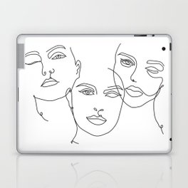 Abstract Faces in One Simple Line Laptop & iPad Skin