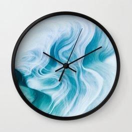 Marble sandstone - oceanic Wall Clock